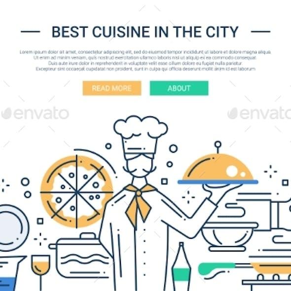 Cuisine In The City Line Design Website