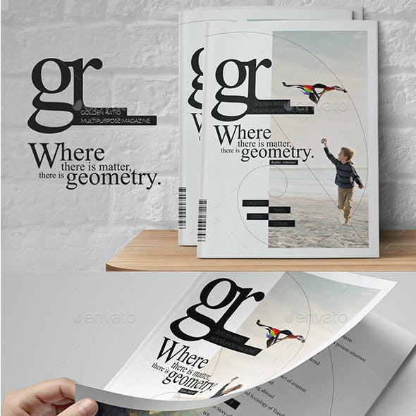Golden Ratio Magazine Template