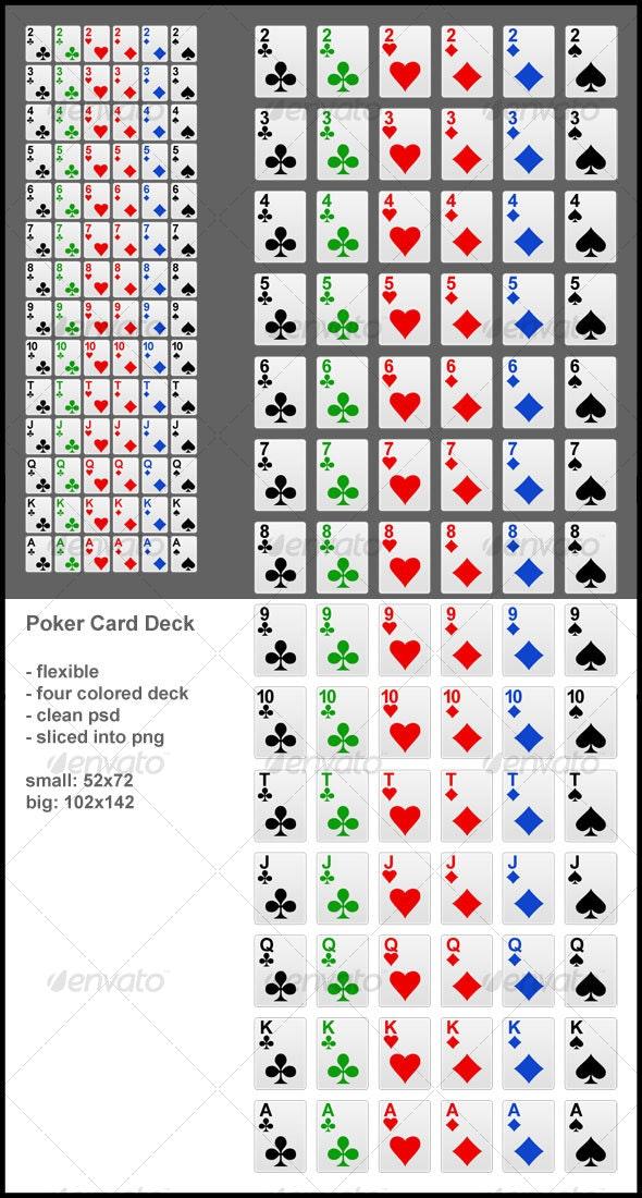 Complete poker card deck - Sprites Game Assets