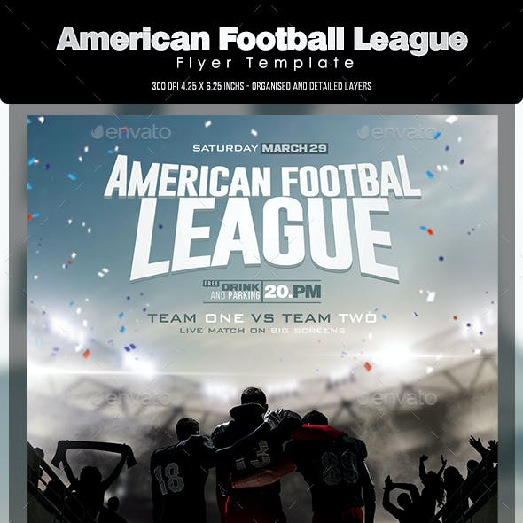 American Football League Flyer Template