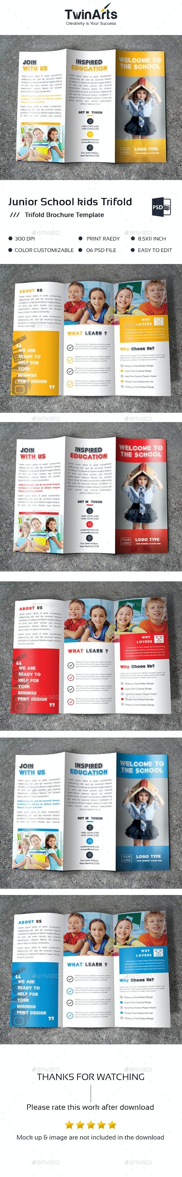 Junior School kids Trifold Brochure - Brochures Print Templates