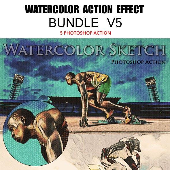 Watercolor Action Effects Bundle