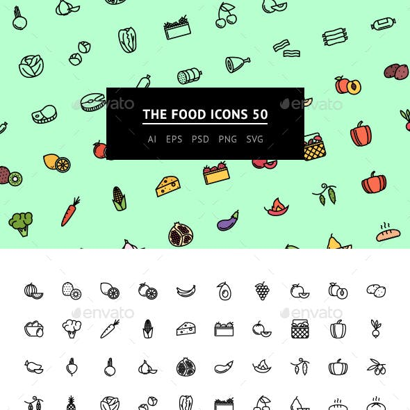 The Food Icons 50