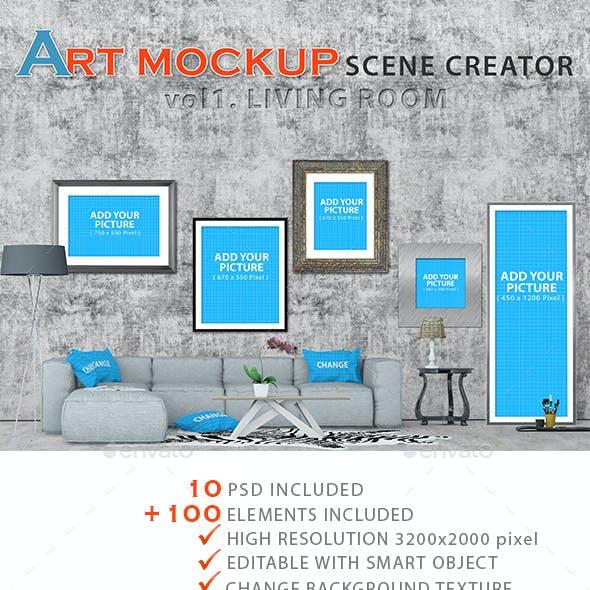 Art Mockup Scences Creator _ Livingroom