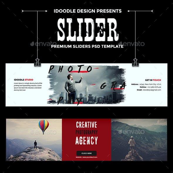 Photography Sliders - 09 PSD