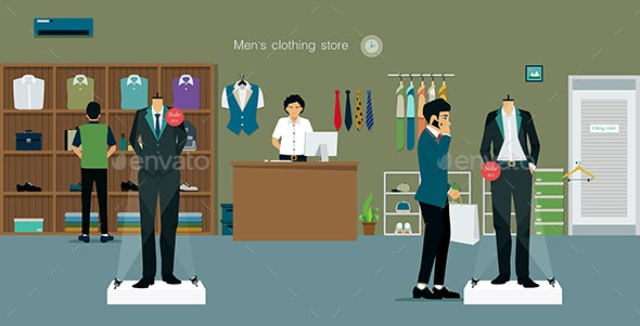 Clothing Store Man - Retail Commercial / Shopping