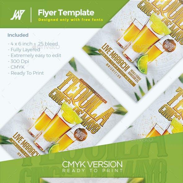 Cinco De Mayo Tequila Party Flyer