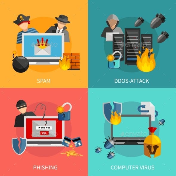 Hacker Attacks 2X2 Design Concept