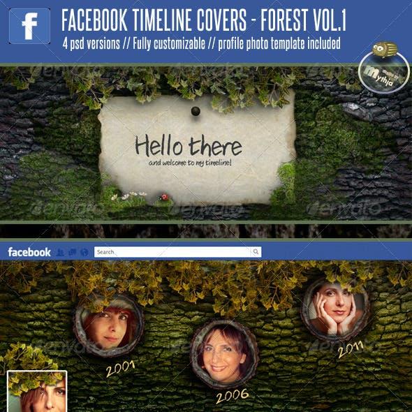 4 Facebook Timeline Covers – Forest vol. 1