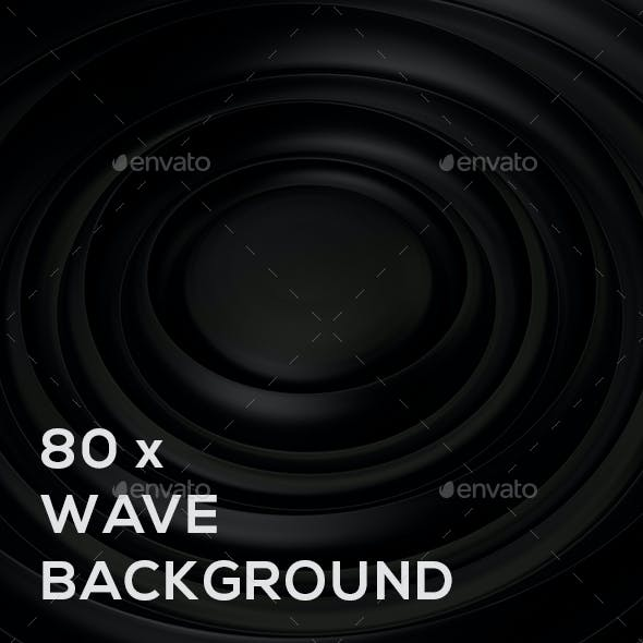 80x Wave Background