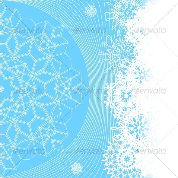 illustration of winter background - Seasons/Holidays Conceptual