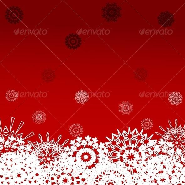 Christmas background with the snowflakes - Christmas Seasons/Holidays