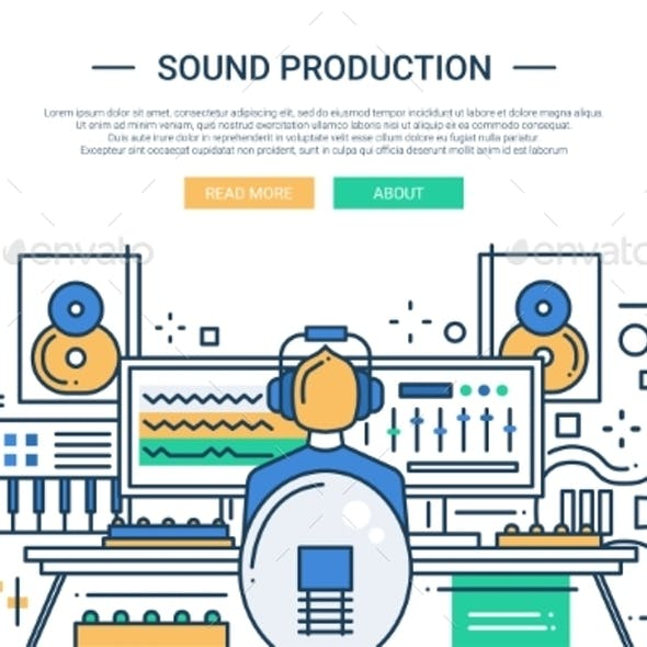Sound Production - Website Header Banner Template