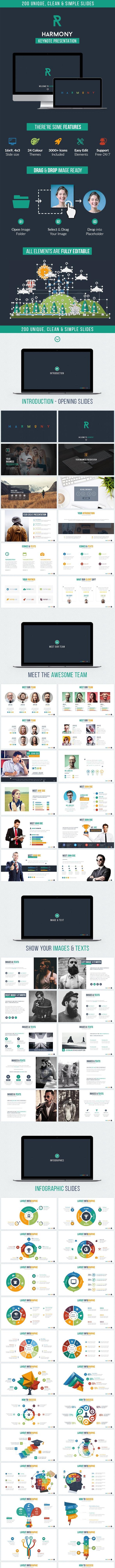 Harmony - Multipurpose Keynote Template - Business Keynote Templates