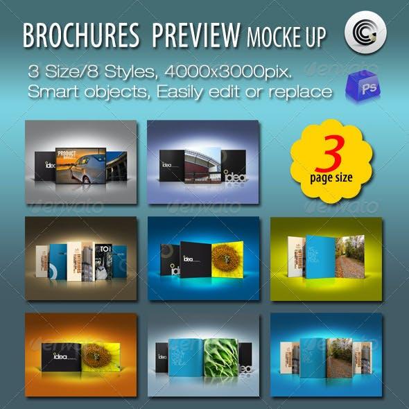 3 Size Brochures Mock-up