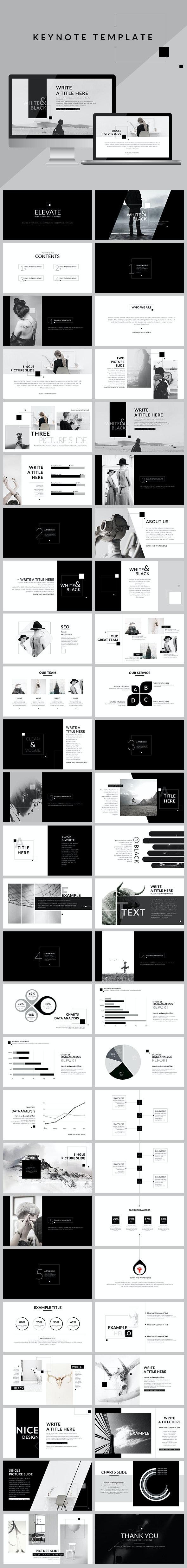 Black & White - Clean Keynote Template - Creative Keynote Templates