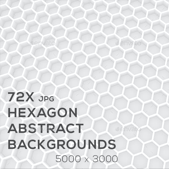 Abstract Hexagon 72x Backgrounds