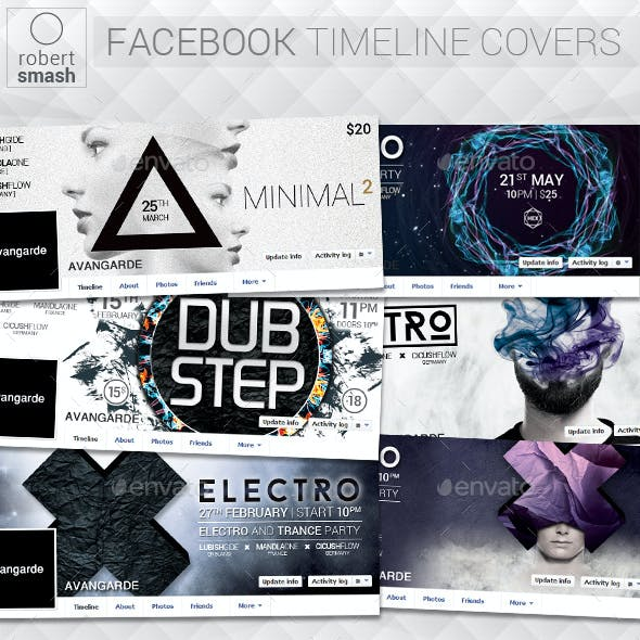 6 Music Event Facebook Timeline Covers vol.6