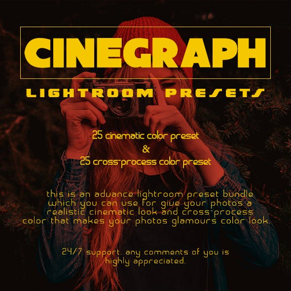 50 Cinegraph Presets Pack