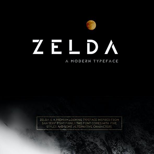 ZELDA Typeface (BOLD)
