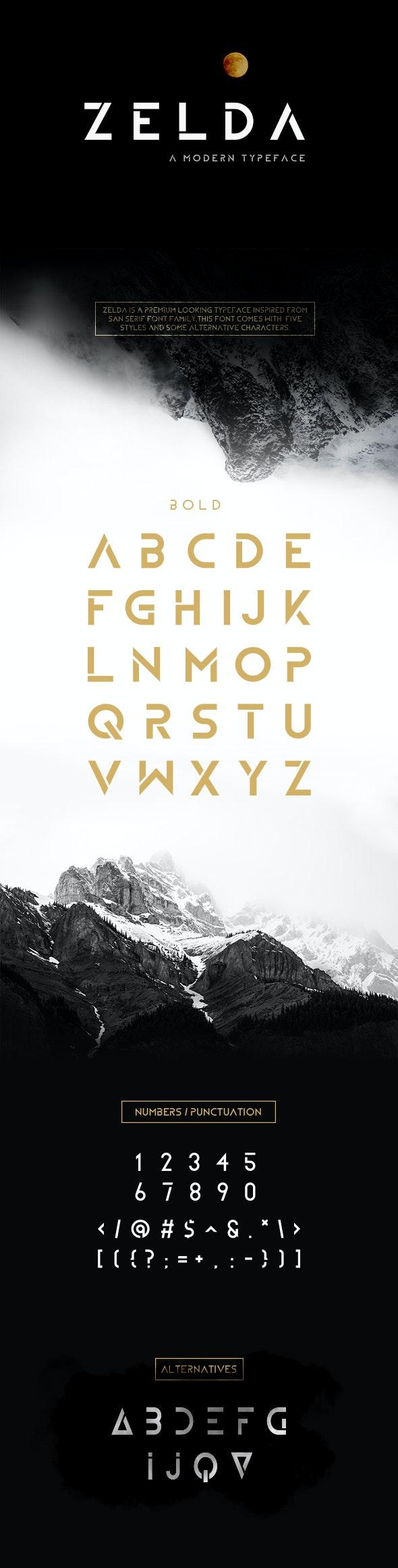 ZELDA Typeface (BOLD) - Sans-Serif Fonts