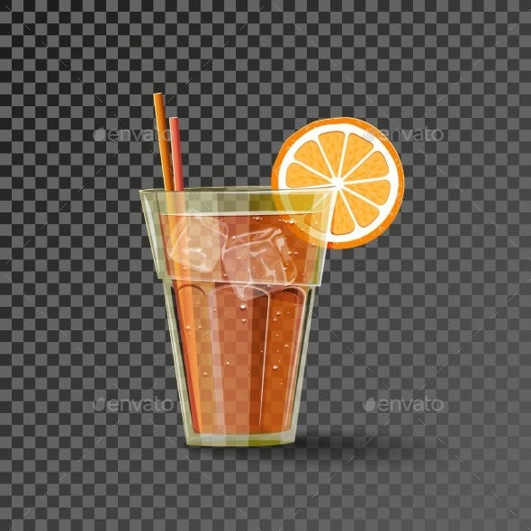 Orange Drink in Glass