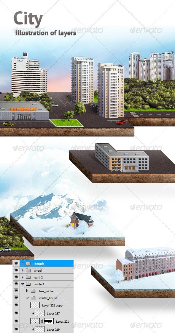 City  - Objects Illustrations