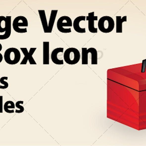 Vintage Vector Tool Box Icon