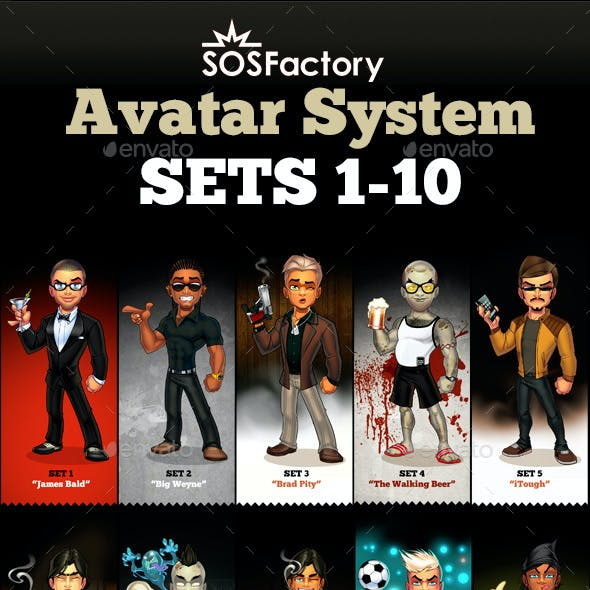 Avatar Creator Man Bundle sets 1-10