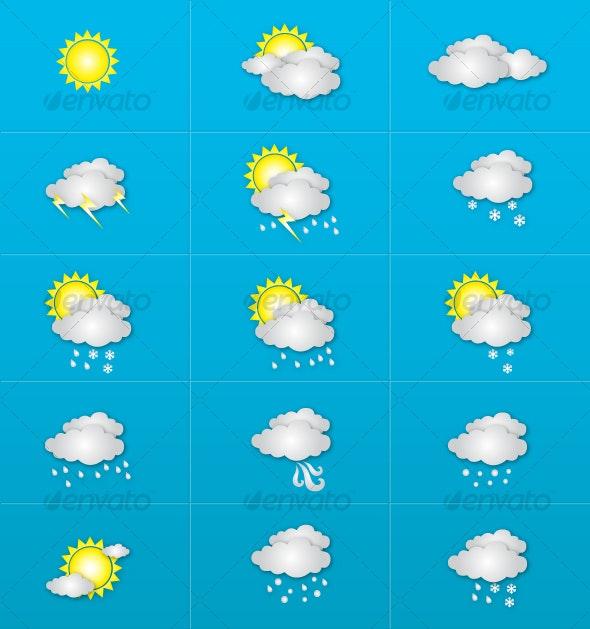 Weather Icon Set - Seasonal Icons