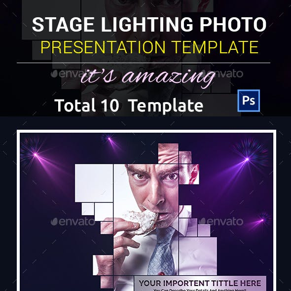 Stage Lighting Photo Presentation Template
