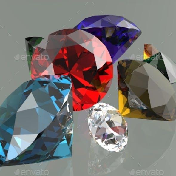 Gemstones 3d Render