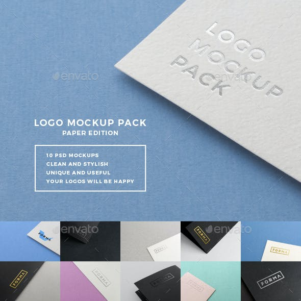 Logo Mockup Pack. Paper Edition