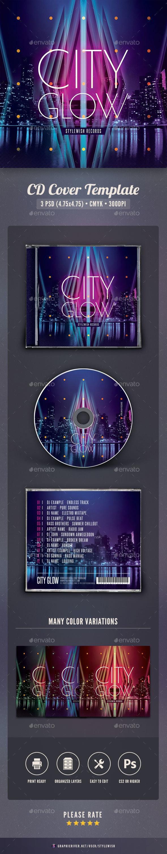 City Glow CD Cover Artwork - CD & DVD Artwork Print Templates