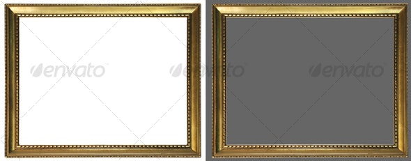 Antique picture frame 02 - Home & Office Isolated Objects