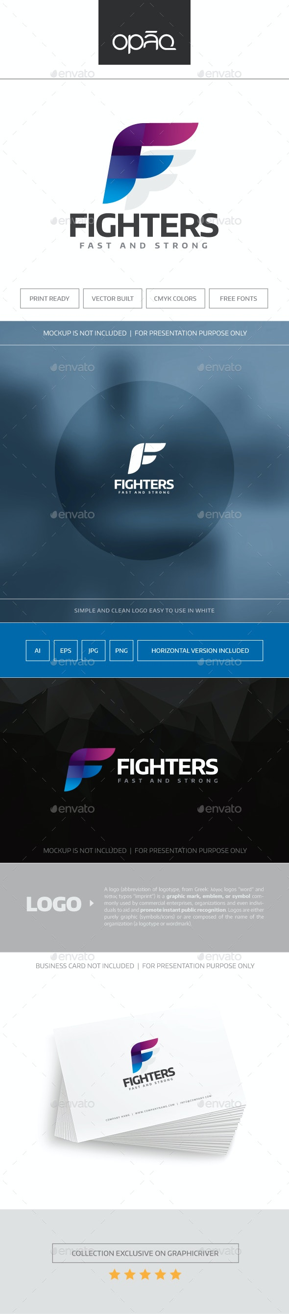 Fighters Logo - Letters Logo Templates