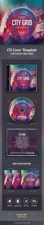 City Grid CD Cover Artwork - CD & DVD Artwork Print Templates