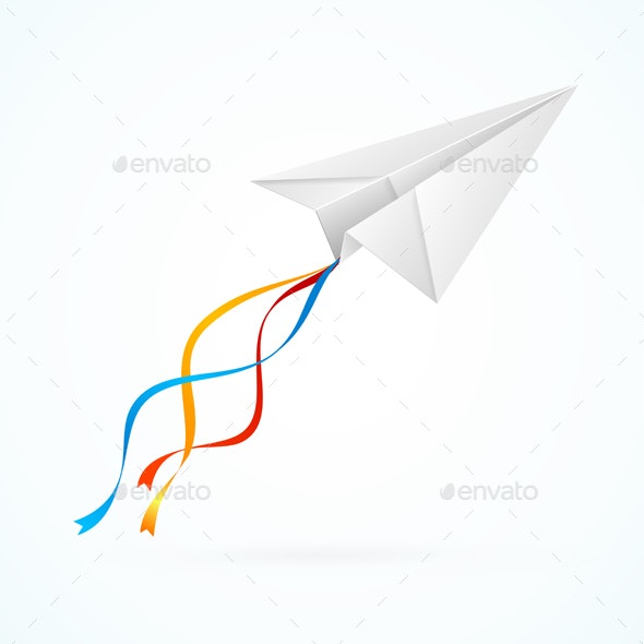 Paper Airplane - Man-made Objects Objects