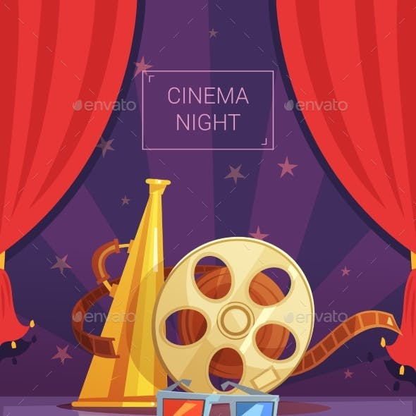 Cinema Night Illustration