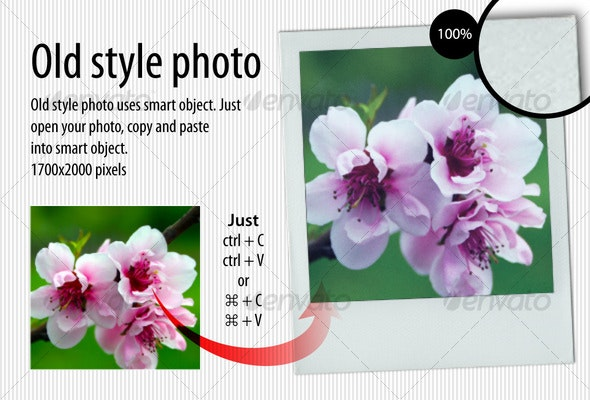 Old style photo - Photo Templates Graphics