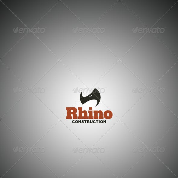 Rhino Construction Company Logo Template