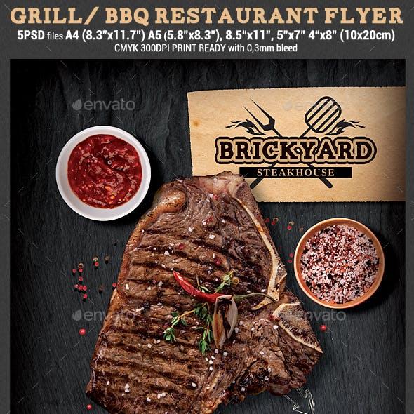 Grill/steak Restaurant Flyer Template