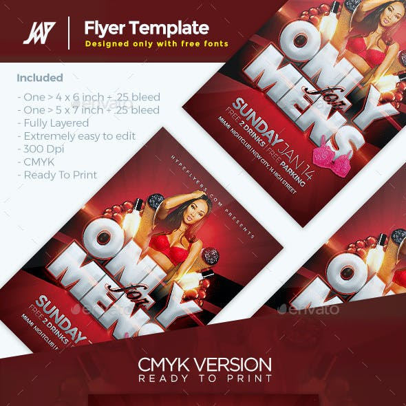 Only for Mens Flyer