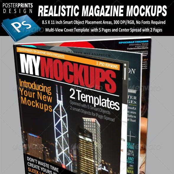 2 Realistic Magazine Mockups