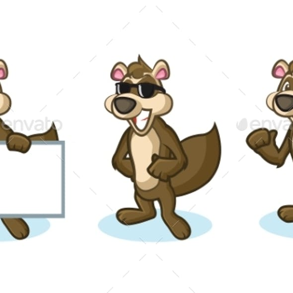 Brown Polecat Mascot