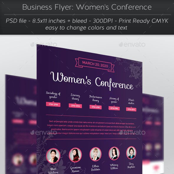Business Flyer: Women's Conference