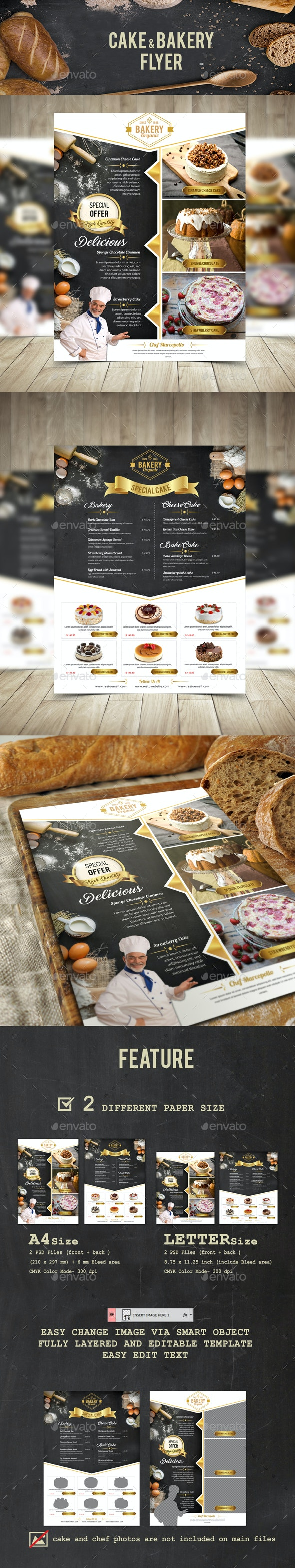 Cake and Bakery Flyer - Flyers Print Templates