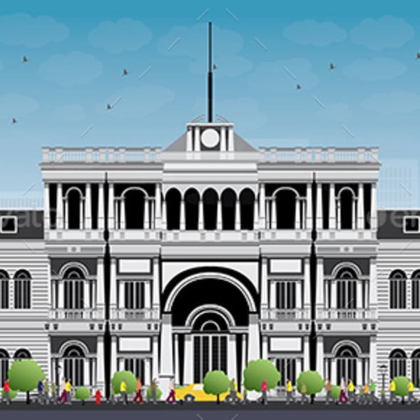 University or College Building in Classic Style