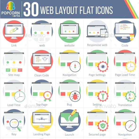 30 Web Layout Round Icons