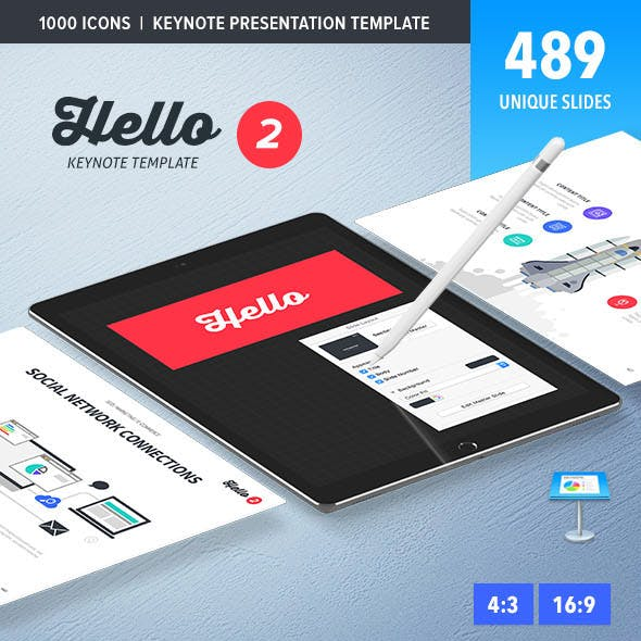 Hello 2 Keynote Presentation Template
